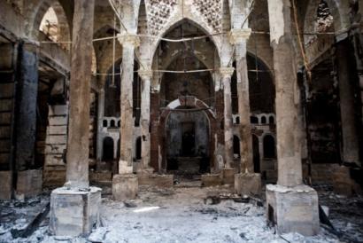 Eglise brulée